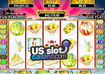 Aladdin's Wishes Online Slots Review At RTG Casinos