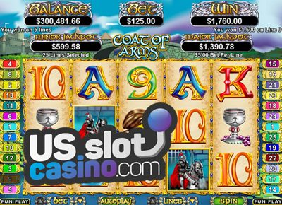 Coat Of Arms Progressive Slots Reviews At RTG Casinos