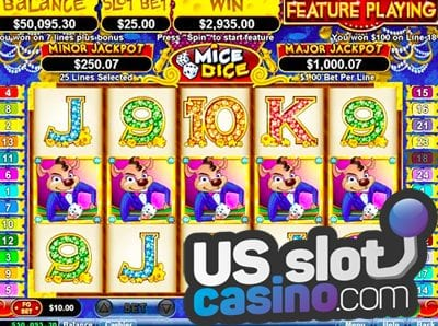 Mice Dice Video Slot Game Reviews At USA Online Casinos