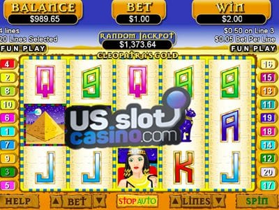 Cleopatras Gold Progressive Slots Review At RTG Casinos