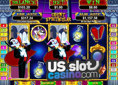 Count Spectacular Progressive Slots Review At RTG Casinos